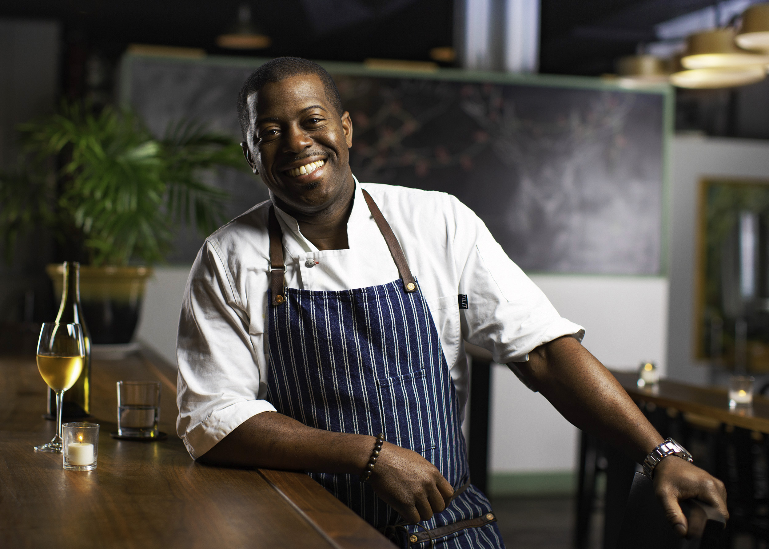 Portrait of chef in restaurant kitchen