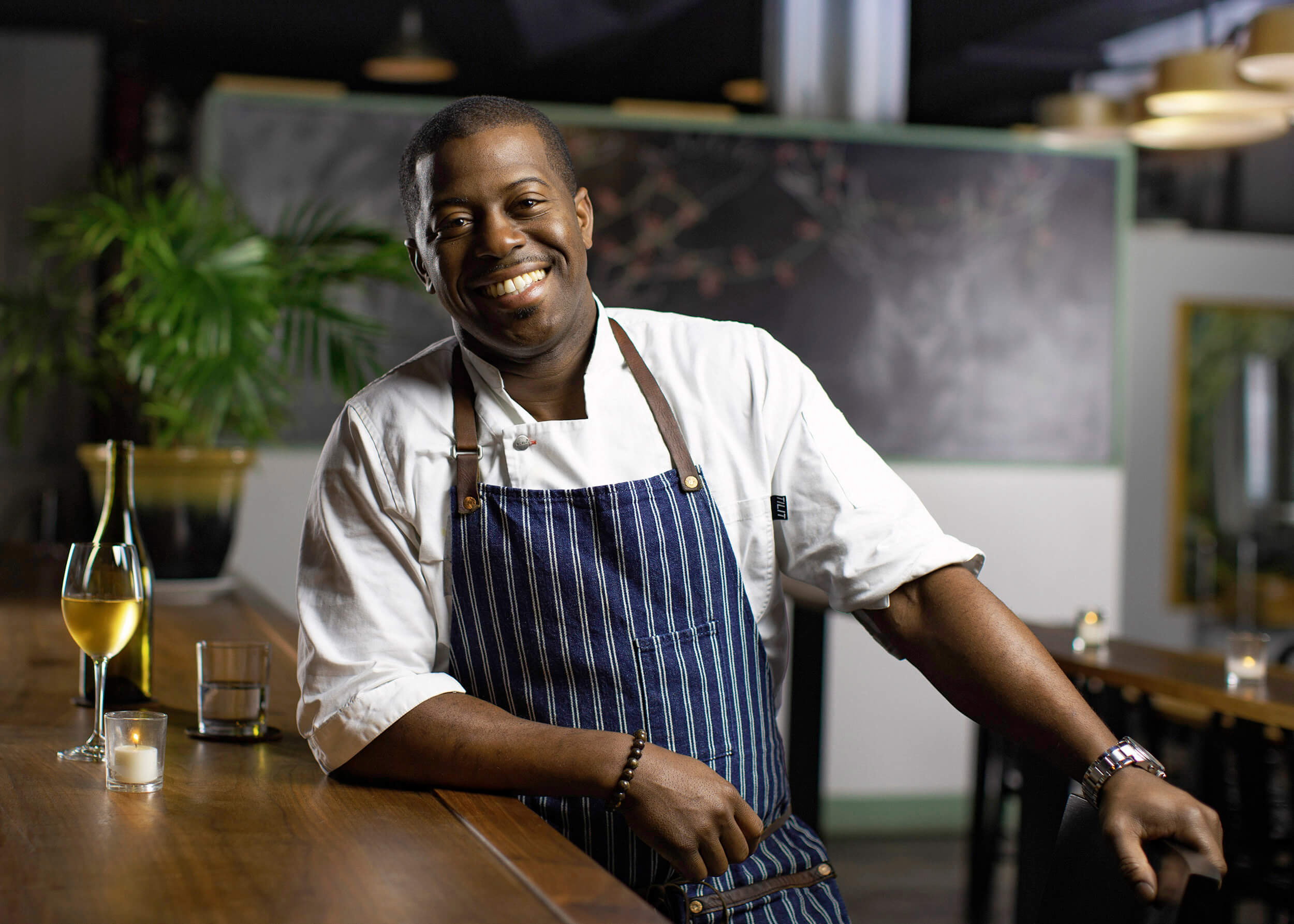 Portrait of chef Edouardo Jordan