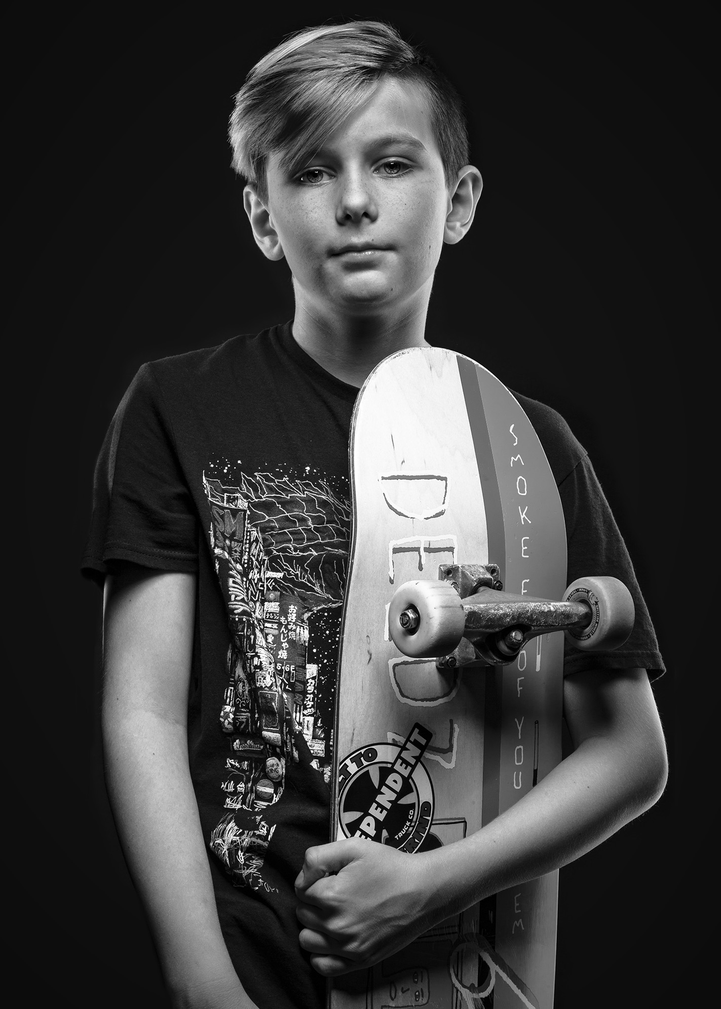 kid Skateboarder portrait