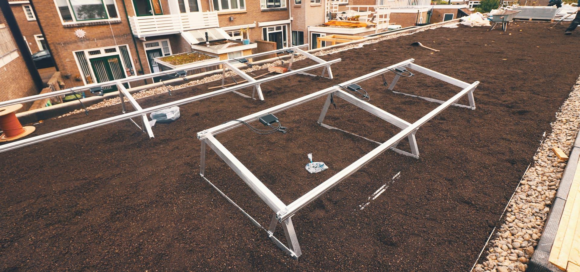 Door Solar Sedum ontwikkelde Airframes voor zonnepanelen
