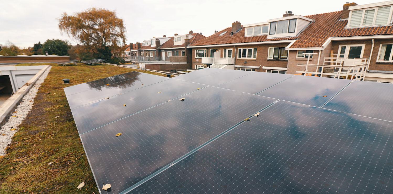 Een Solar Sedum Energiedak in Amsterdam