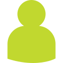 Een groene silhouetten van een poppetje