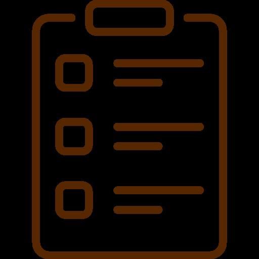 Tekening van een formulier