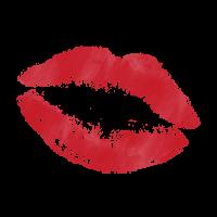 Lippenstift Kuss Flecken