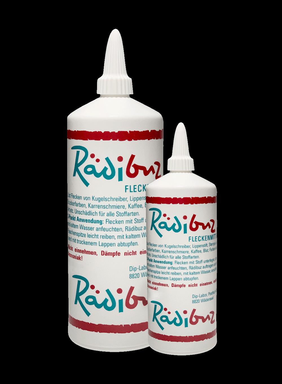 Rädibuz Fleckenmittel  Flaschen 180ml 50ml