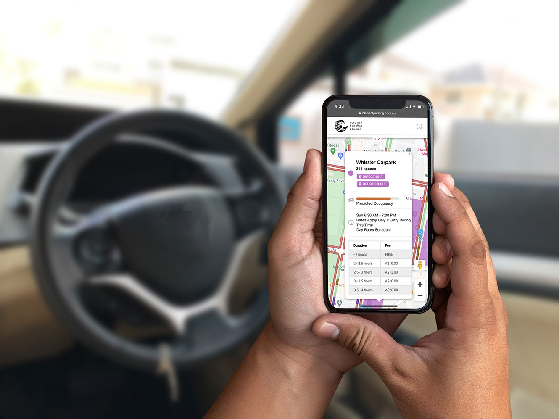 Manly Parking Finder on Phone
