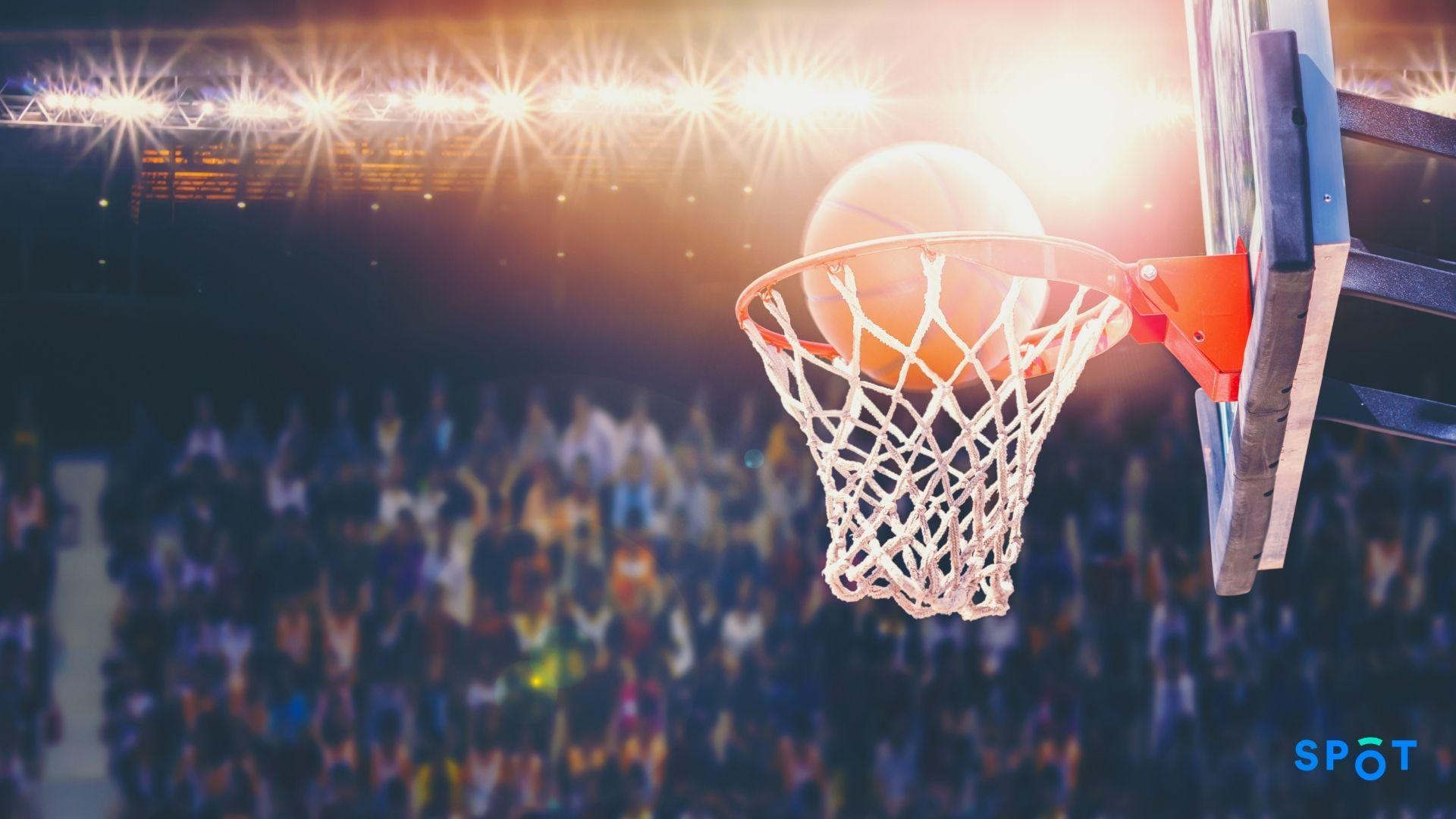 A university basketball game, sporting events make it tough for students to move and park sustainably