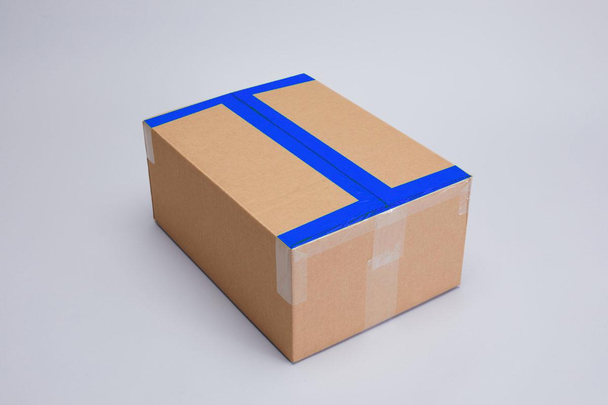 A box showing H taping method