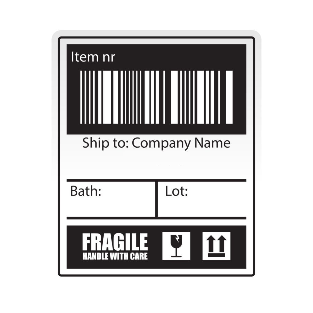 A sample shipping label