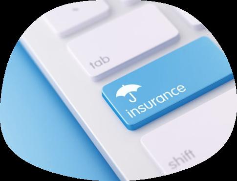 Mock insurance button on keyboard