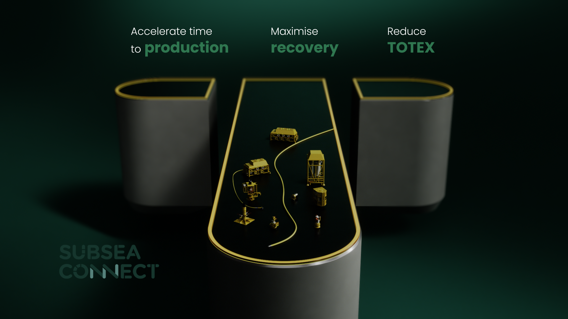 A collection of subsea products on the letter T
