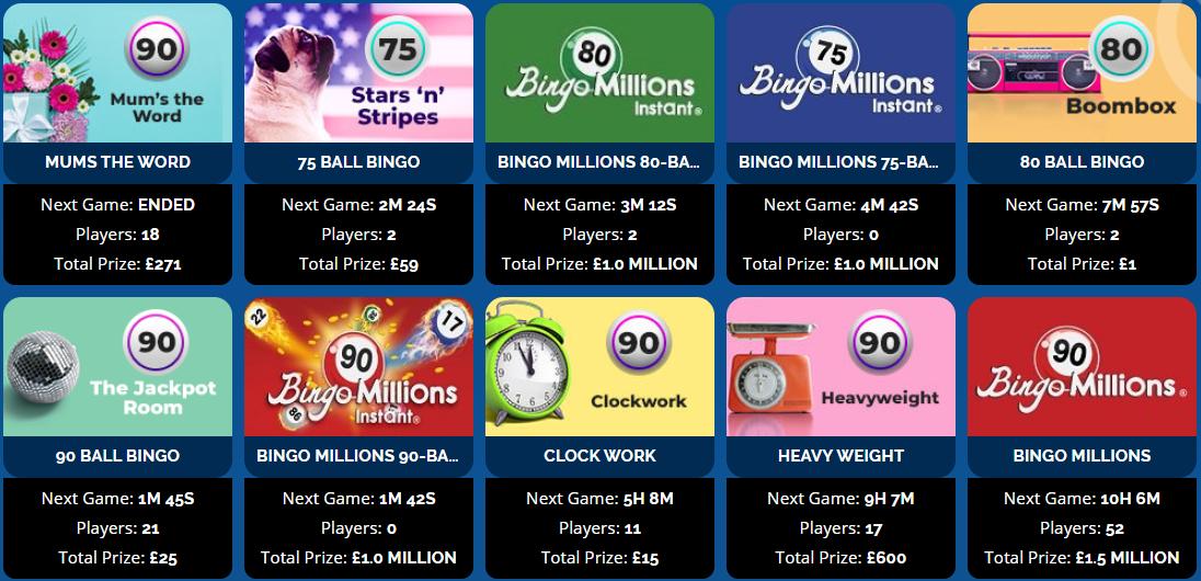 Jumpman Bingo Games