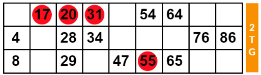 One Line Bingo Ticket