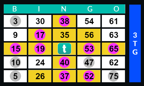 75 ball bingo pattern
