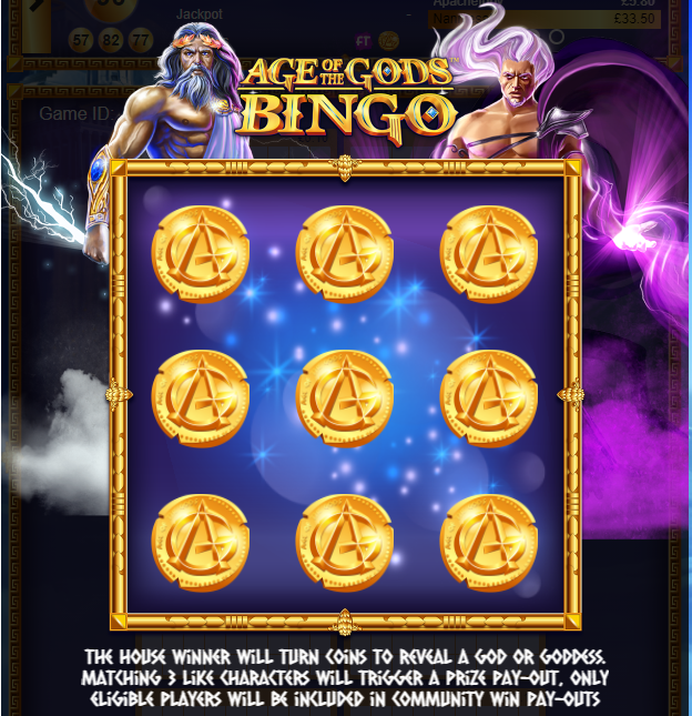 Age of the Gods Bingo Feature