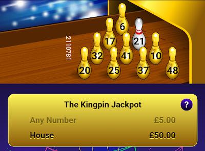 Bingo Bowl Kingpin Jackpot Ticket