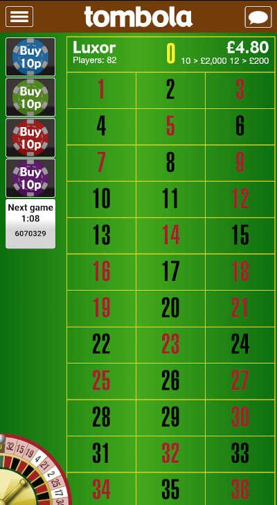 Tombola Bingo Roulette