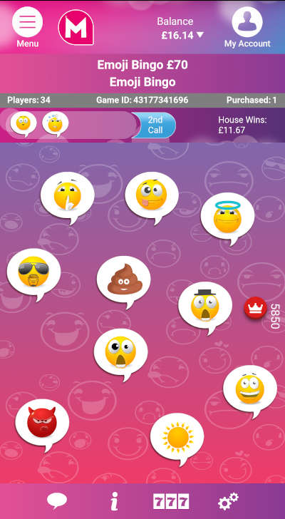 Emoji Bingo from Mecca Bingo