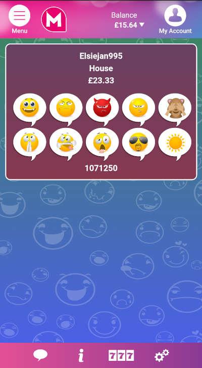 Emoji Bingo winning moment