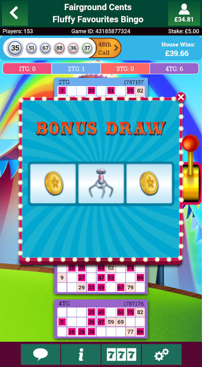 Fluffy Favourites Bingo Bonus Spinner