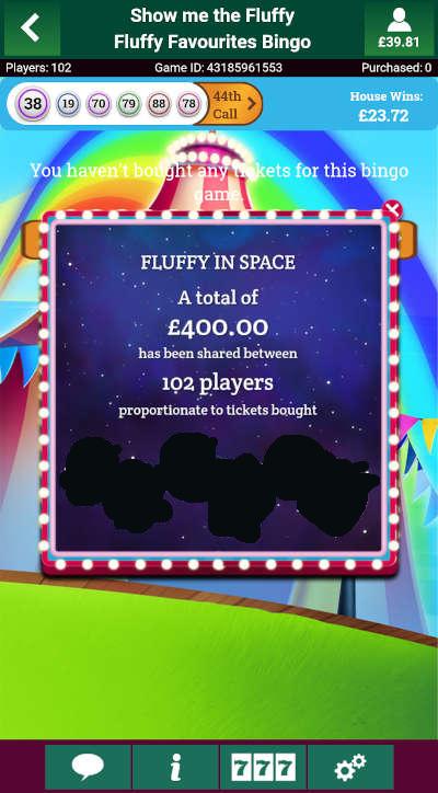 Fluffy Favourites Bingo Fluffy In Space Community Winners