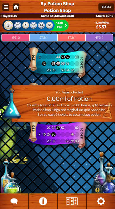 How much potion collected