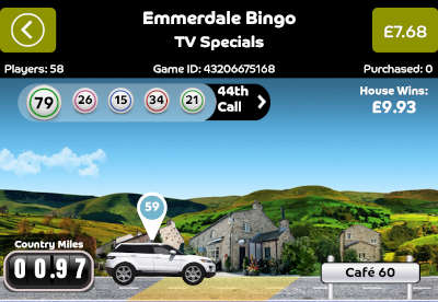 Emmerdale Bingo car