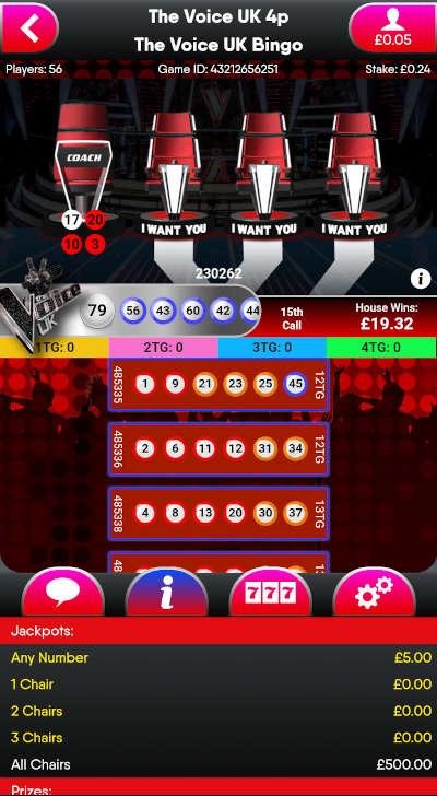 Voice Bingo Jackpot Prizes