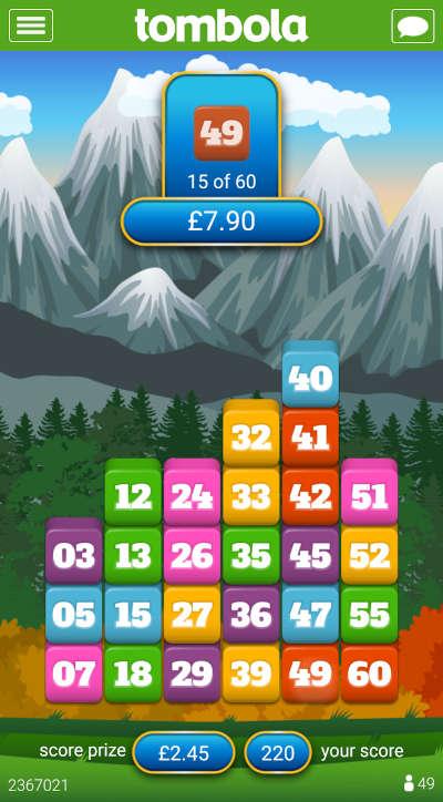 tombola Blocks game