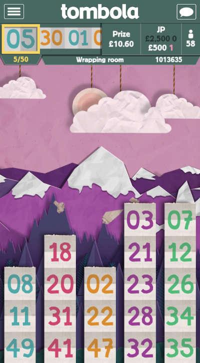 tombola Paper bingo game