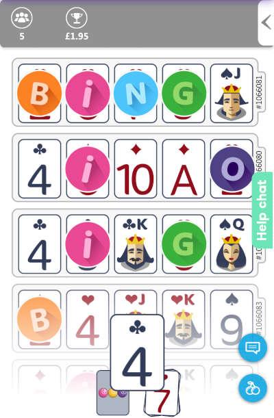 Flash Fives 52-5 Bingo