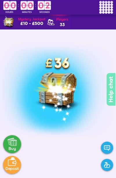 Mystery Jackpot Bingo Prize Reveal