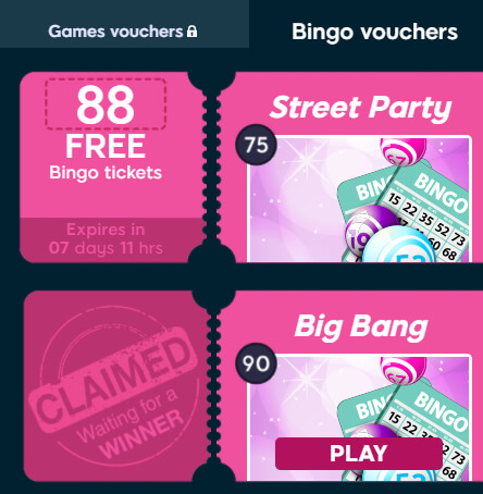 Bingo Idol Game Vouchers