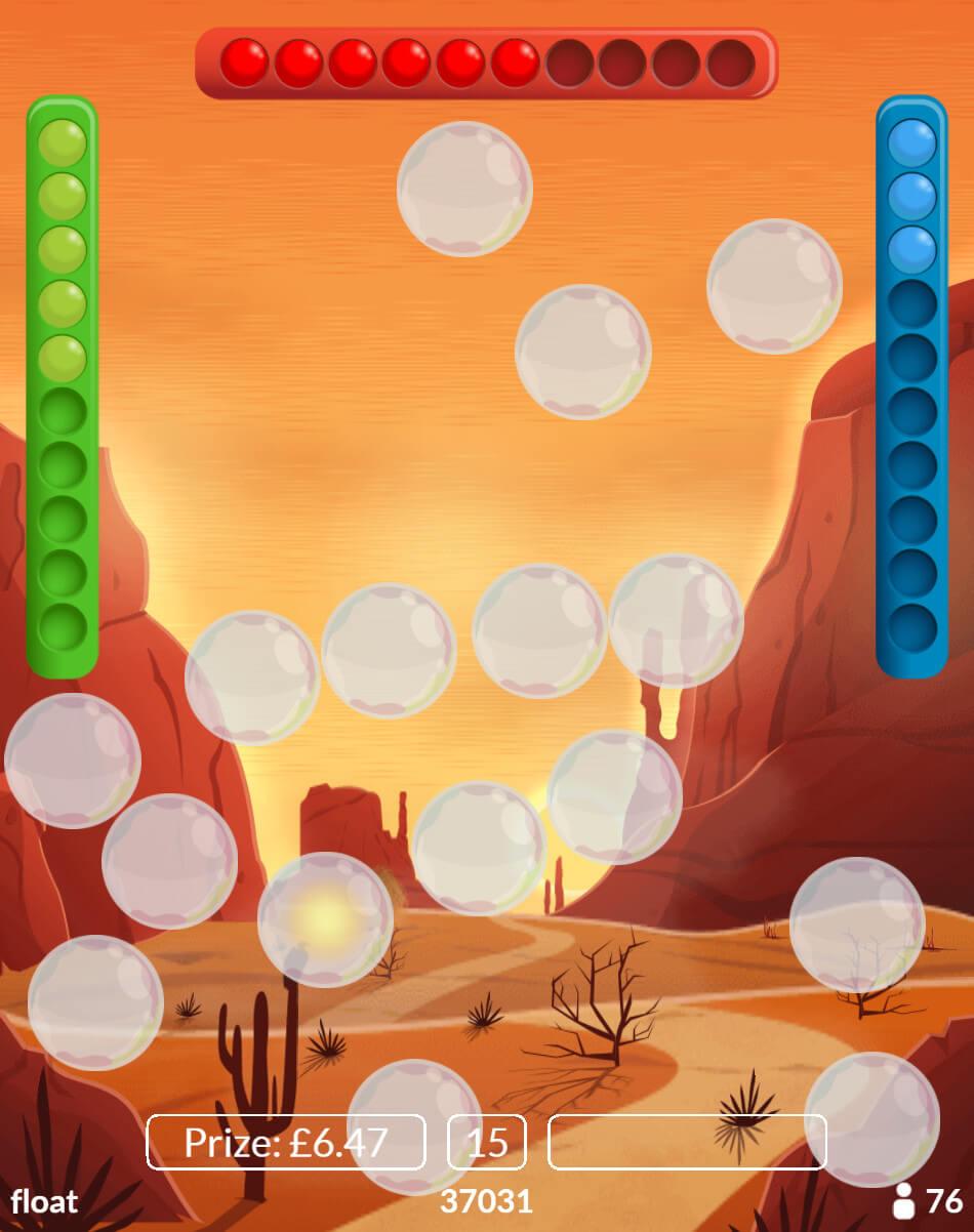 Bubble Bingo Desert Valley Theme