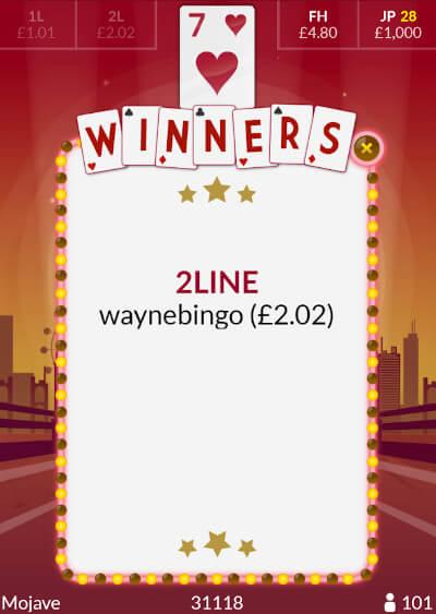 Wayne's tombola Nevada win!
