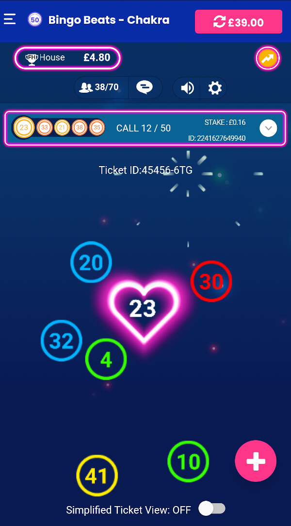 Bingo Beats gameplay