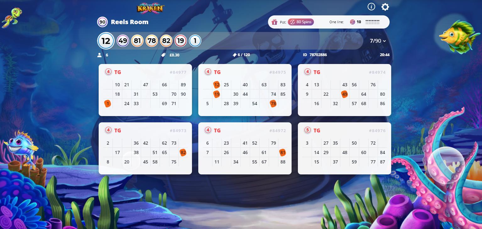 Reels Room bingo