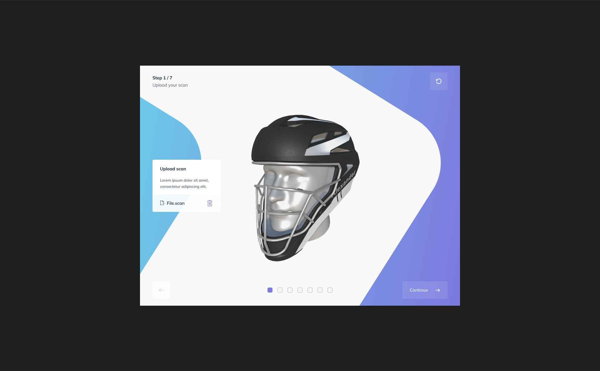 Twikit Sports Helmet upload screen
