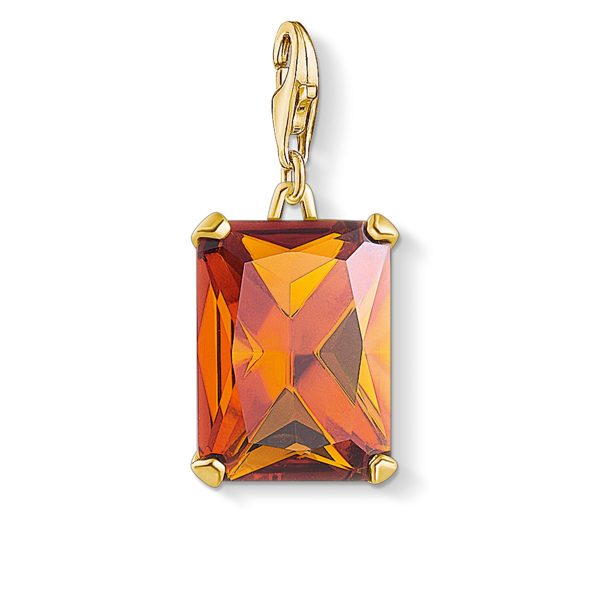Charm-Anhänger Großer Stein Orange 1840-472-8