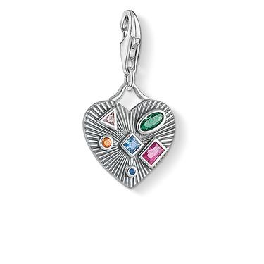 Charm-Anhänger Herz farbige Steine 1806-318-7