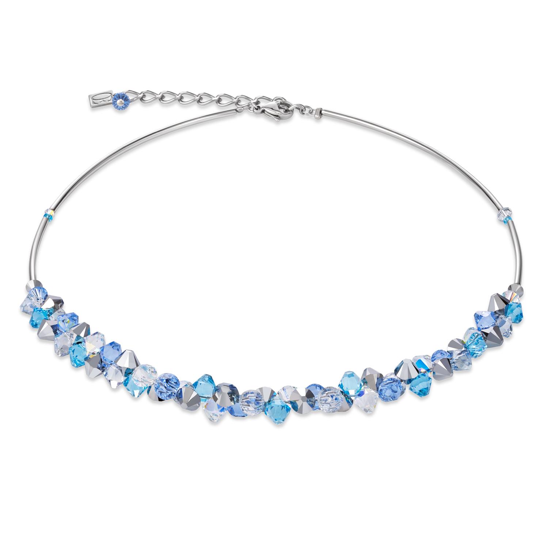 Halskette Coeur de lion Kristalle & Edelstahl hellblau 4938100720