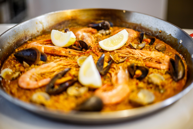 La paella del restaurante Port Vela