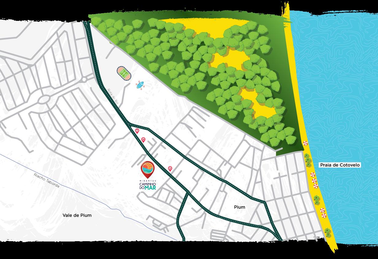 Mapa ilustrativo de Pium