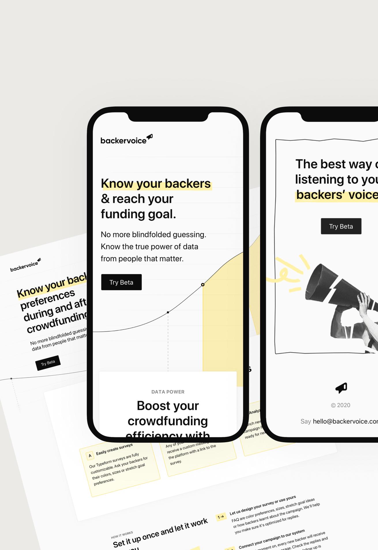 Website for Backervoice