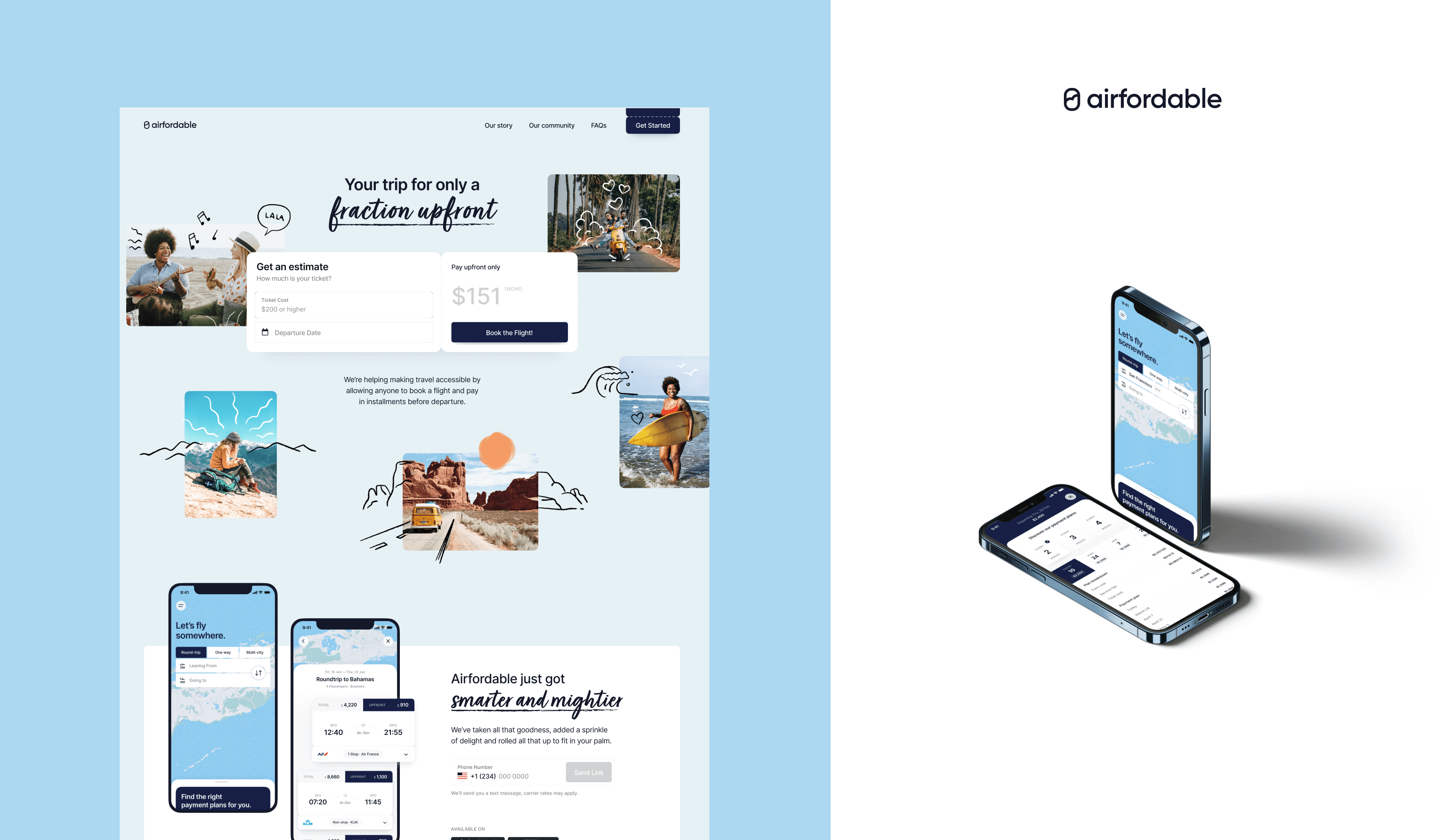 Airfordable app and website images