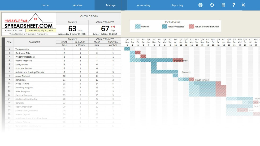 Rehab Repair Estimator Spreadsheet Software