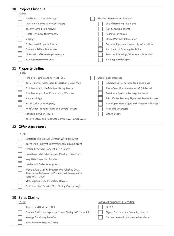 House Flip Checklist