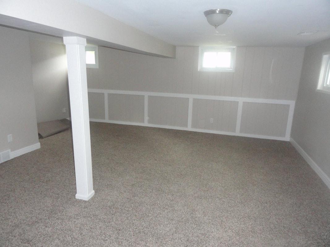 First House Flip Basement