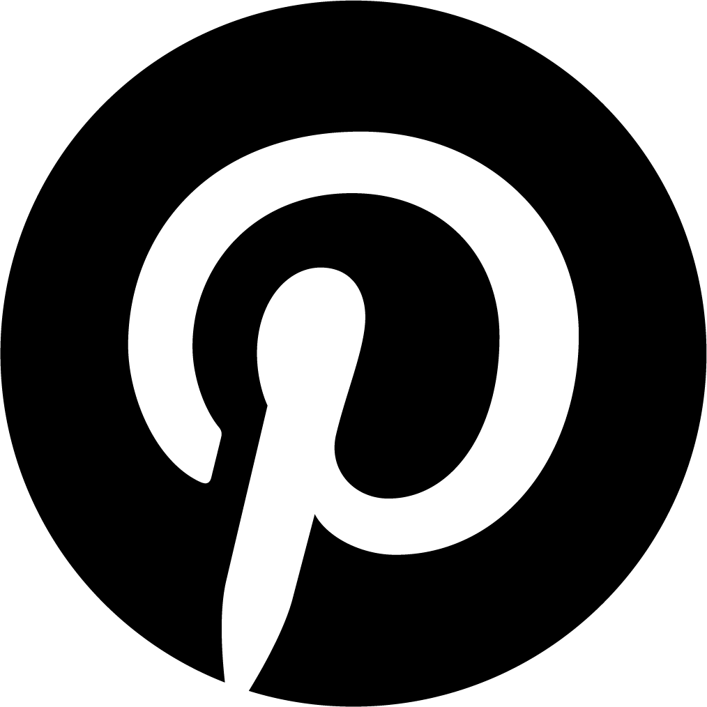 Pinterest icon in black