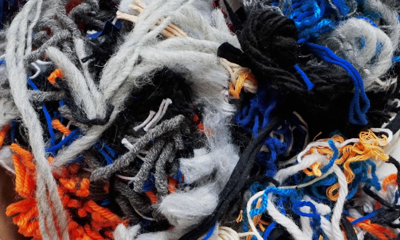 Image of colorful yarn scraps